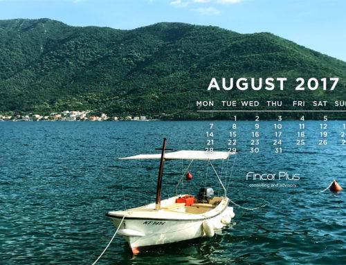 Заставка на рабочий стол и календарь на август 2017