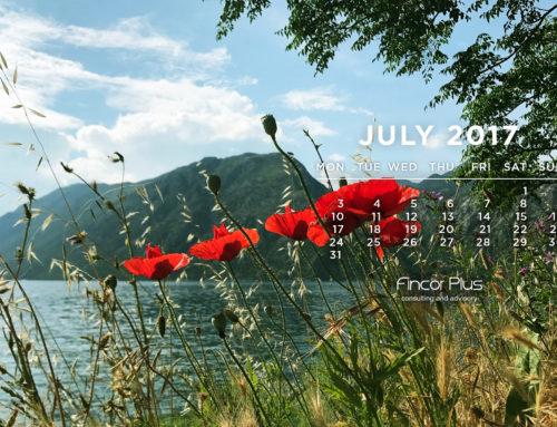 Заставка на рабочий стол и календарь на июль 2017